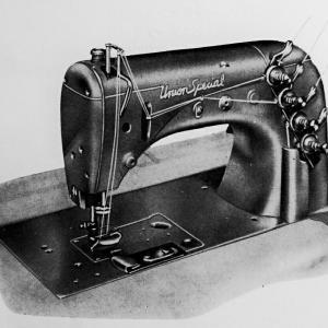 ユニオン・スペシャル 51600BA:2本針二重環縫ミシン