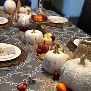 感謝祭のテーブルセッティングとお食事