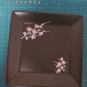 おうちポーセラーツ♡黒磁のスクエアプレート