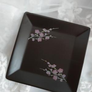 おうちポーセラーツ♡黒磁のスクエアプレート焼成できました♪