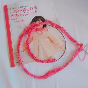棒針編みのニットベスト♡