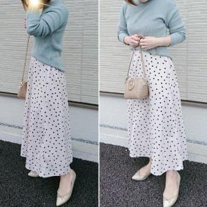 【GU】衰え知らずのドットスカート!【日本初♡】ポストに届くお花の宅配便♡
