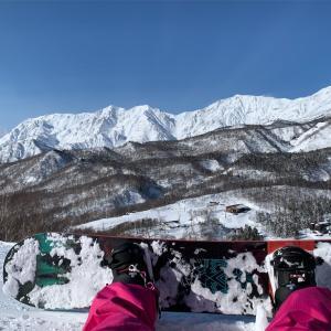 広大な面積と上質な雪質でスノボ した! in 栂池高原