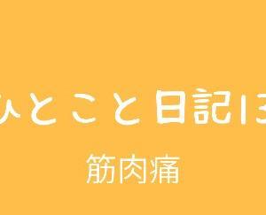 ひとこと日記13(筋肉痛)