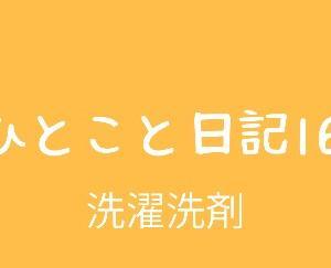ひとこと日記16(洗濯洗剤)