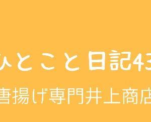 ひとこと日記43(唐揚げ専門井上商店)
