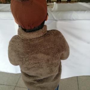 小学2年-冬休み(旅行中止、書初め、初詣、凧揚げ)