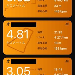 土曜日朝練400mダッシュ8本