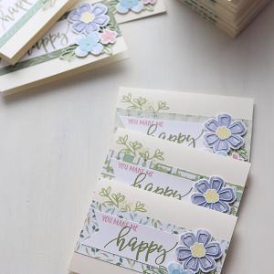 【ダイカット】年明けのご挨拶に、早春のガーデンカード