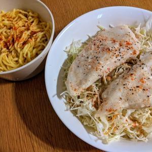 サラダチキンサラダとこんにゃく麺