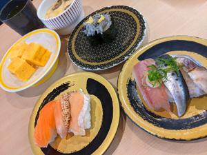 【猛暑】回転寿司で涼やかカフェタイム?【涼を求めて】