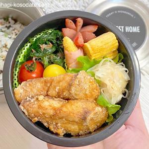 【魚おかず】和食弁当ぶりの竜田揚げプレイバック息子弁当