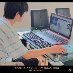 三男(中学生)オンラインでプログラミング学習はじめました