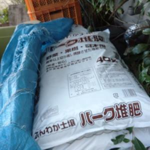 堆肥買っておきました。