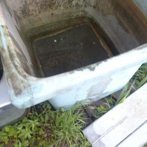 水の取り置きバスタブ