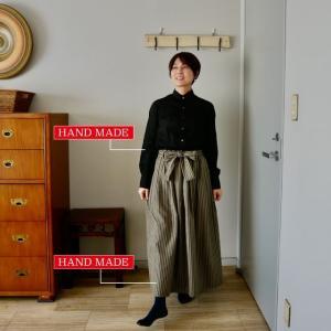 マキシ丈のスカート
