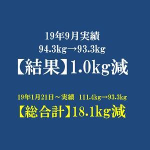 2019年 9月反省 体重93.3kg 月間で-1.0kg