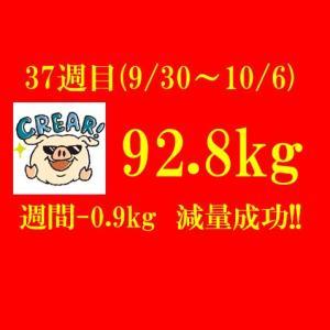 【ブログ公開ダイエット】257日目(2019年10月6日)&37週目結果92.8(週間-0.9)kg 最高記録更新も来週はデブイベント満載!