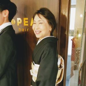 【花嫁さんの母:礼装❁黒留袖のお着付け】
