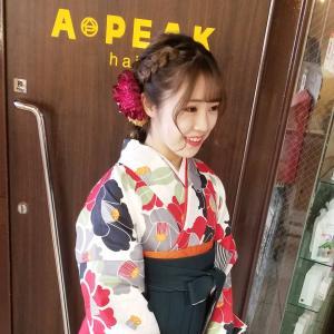【見た目可愛い玉ねぎ編み下ろしヘア】    ✱袴のお着付け&ヘア.