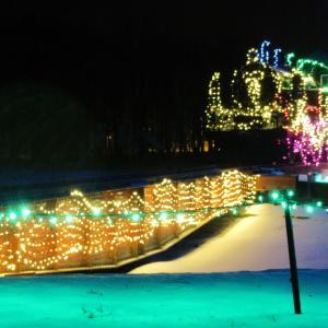 冬のSLイルミネーション(標津町)