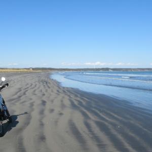潮風香る砂浜ツーリング