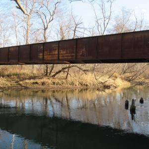 釧路川に残る珍し廃橋