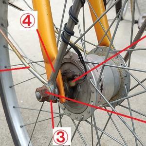 俺にもできる!ママチャリの前輪タイヤの交換方法