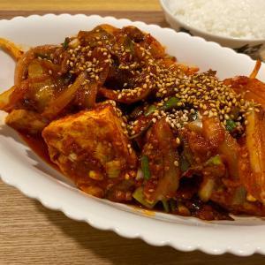 【韓国料理1分レシピ】韓国おかず、豆腐ジョリム(豆腐の煮物)