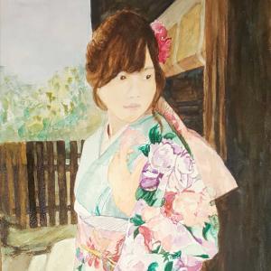 着物姿の若い女性