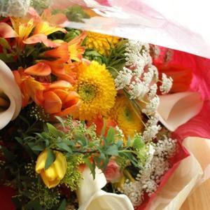 【今日の贈花】傘寿のお祝いの花束♪