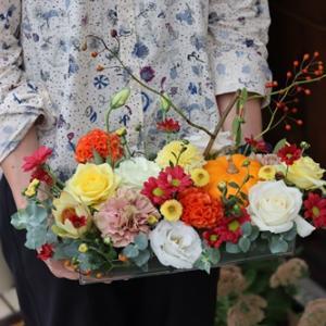 【生徒さんの作品】ハロウィンの可愛いお花たち♪