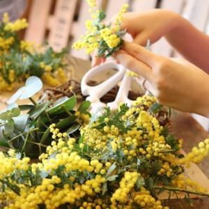 【ミモザの季節】ワークショップとプチ花屋