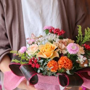 【秋のお花屋さん】初 アレンジ体験できました♪