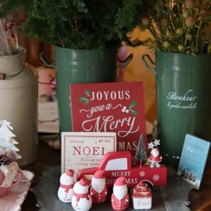 【小さなお花屋OPEN】クリスマスの準備と植替えサービス♪