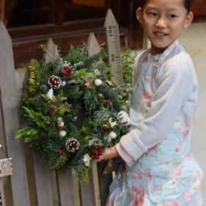 【親子リース編】クリスマスリースを飾った日