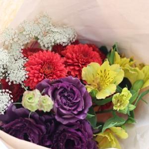 【花束定期便】1月から3か月間花のある暮らし♪