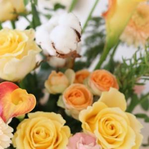 【今日の贈花】米寿のお祝いは明るい色合いで♪