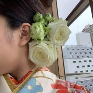 【今日の贈花】成人式の髪飾りは♪