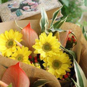 【花束定期便】夏の花束は♪