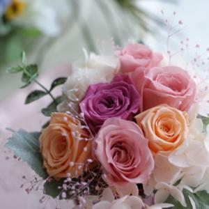 【今日のFlower note】ご結婚のお祝いにミニアレンジ ♪