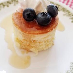 息子のリクエストでパンケーキ
