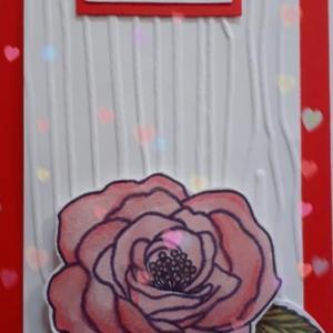こんなカードはすぐに出来上がります。 塗り絵セラピー効果あり!