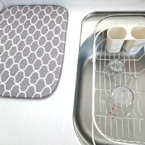 ダイソーの吸水マットで気分のあがるキッチンが実現