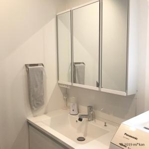 パナソニックの洗面台《シーライン》の鏡裏収納は奥行きに注意!