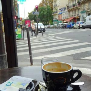 パリ5区、カフェからのパリの街並み