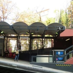 リヨン、地下鉄の傾斜