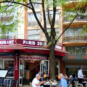 パリ19区、地元のおじさんたちの憩いの食堂