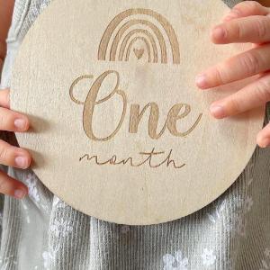 生まれて1ヶ月が経ちました♡ 記念に月齢フォト♪