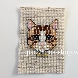 クロスステッチとバックステッチでネコ刺繍「ステッチイデーVOL25」